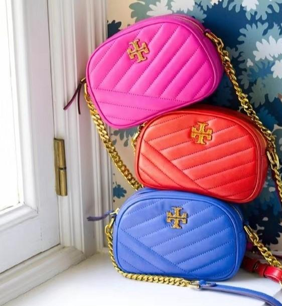 Ready Stock Authentic Tory Burch Kira chevron camera sling crossbody bag handbag jelly colour