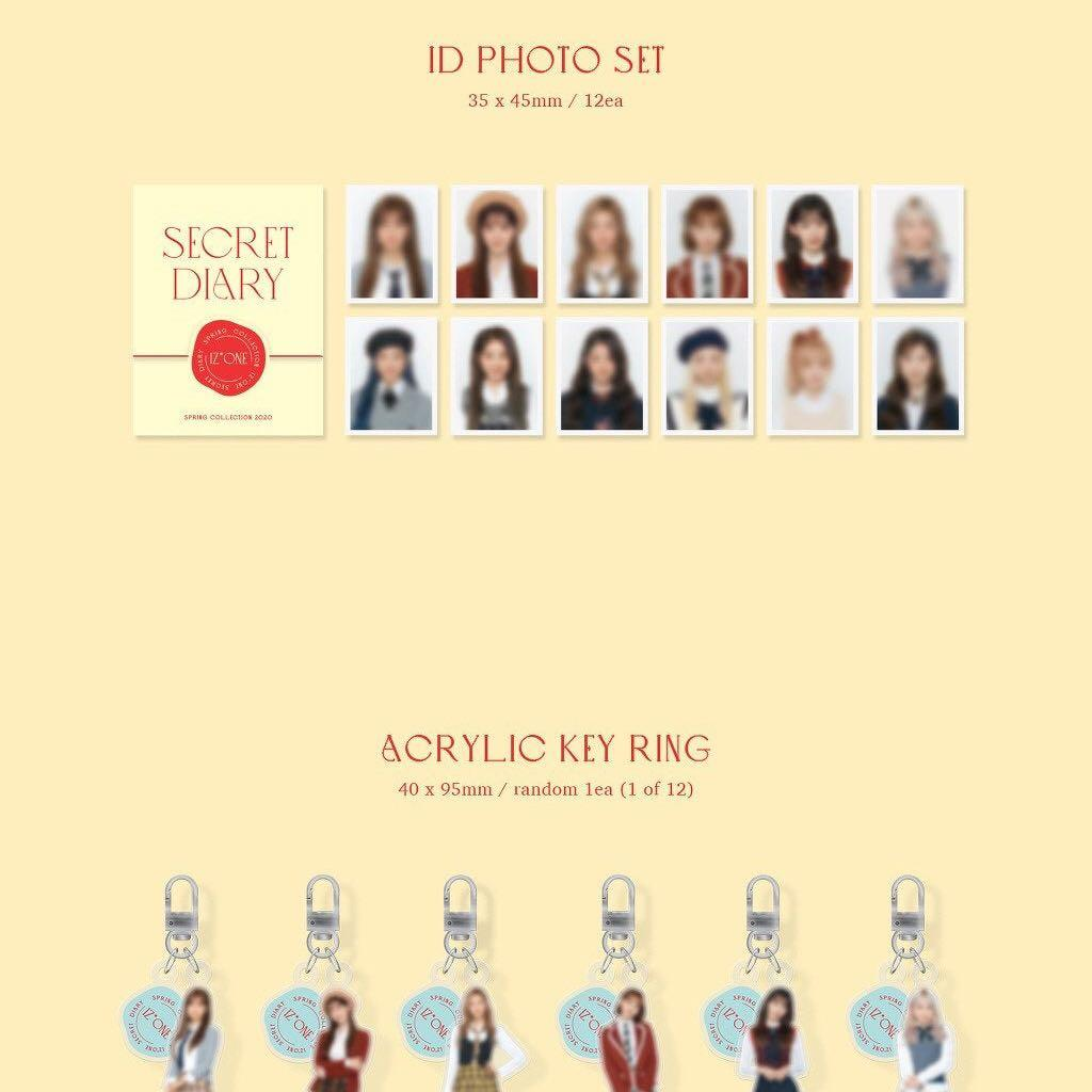 "SALE [READYSTOCK IN KOREA] IZ*ONE SPRING COLLECTION ""SECRET DIARY"""