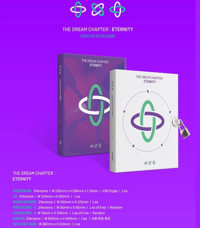 TXT 3rd Album [The dream chapter:Eternity] (Include Freebies)