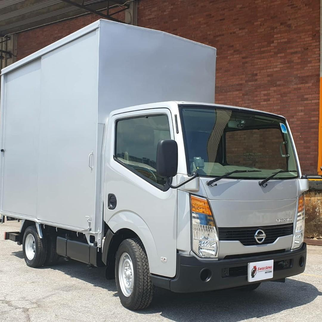 $756 monthly! 3/17 Nissan Cabstar Boxed with Tailgate