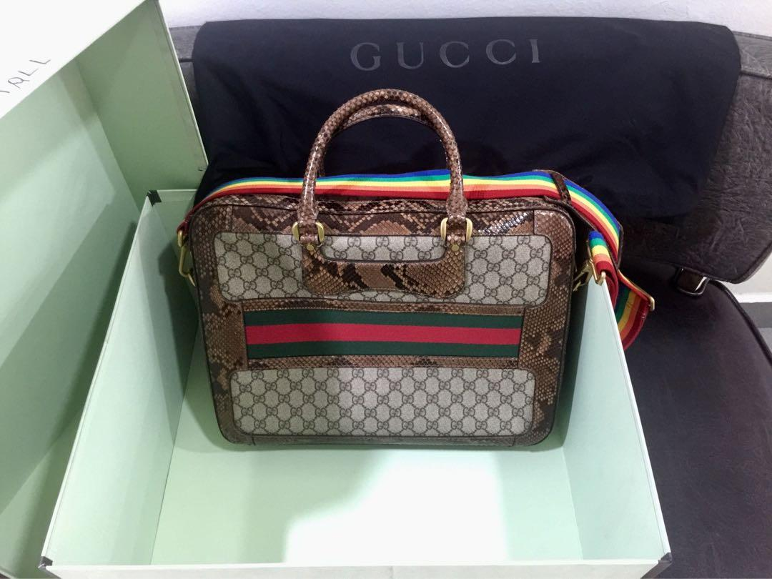 🔥 SALE!!! BNIB 💯% Authentic Rare Unisex Gucci Limited Fashion Runway Series Laptop Briefcase Document Hand Bag!!!