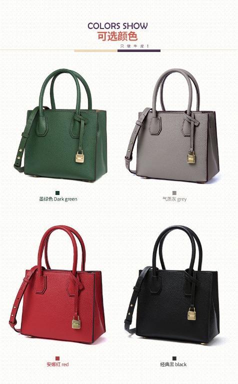 BAGMORE Ladies Fashion Square Genuine Leather Shoulder Sling Crossbody Handbag HD71125-D