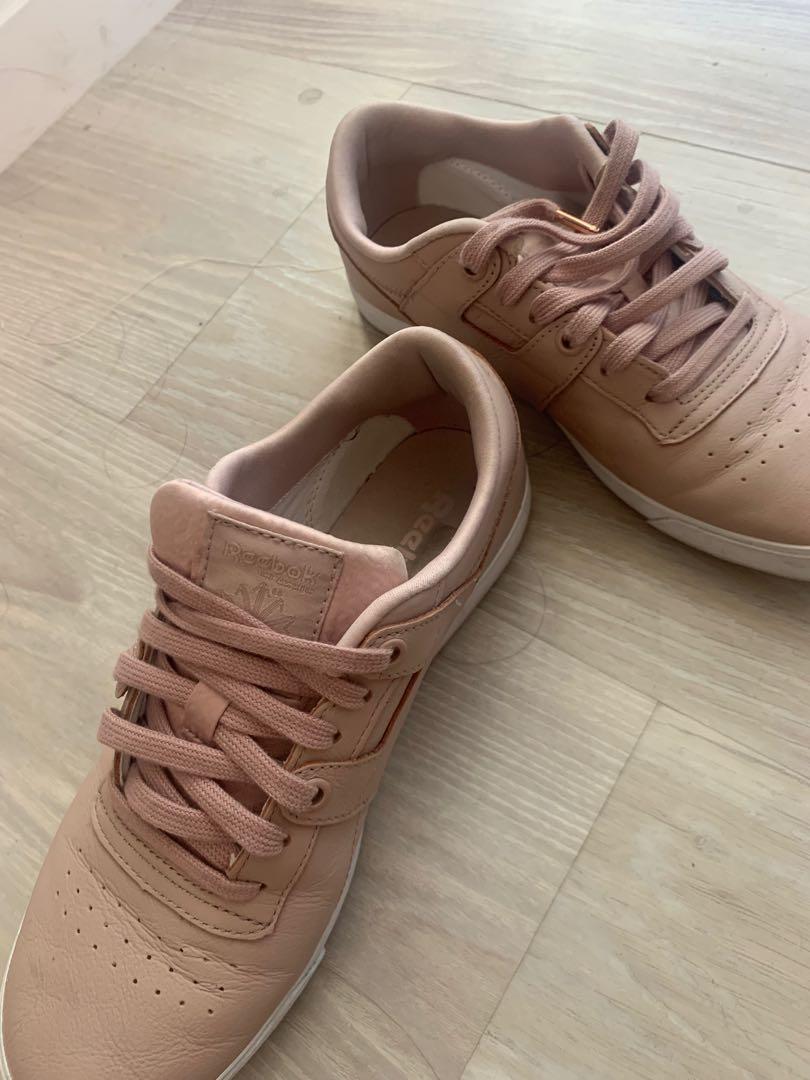 Blush nude Reebok sneakers