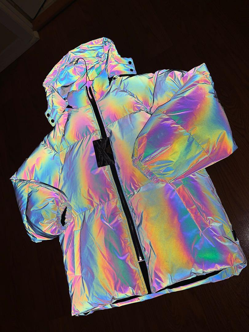 Brand New Reflective Thick Jacket with Detachable Hood