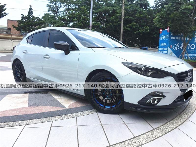 【FB搜尋桃園阿承】馬自達 超人氣MAZDA3 2015年 2.0CC 白色 二手車 中古車