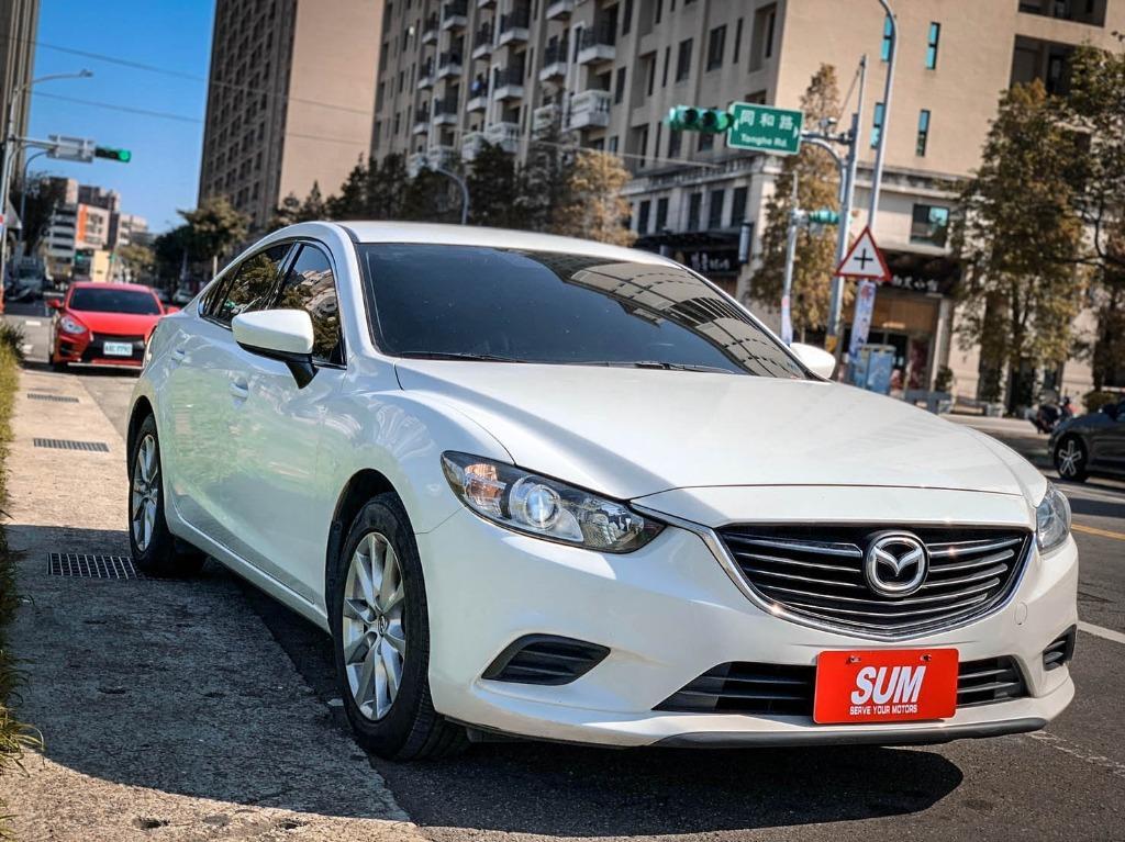 【FB搜尋桃園阿承】馬自達 超人氣MAZDA6 2014年 2.0CC 白色 二手車 中古車