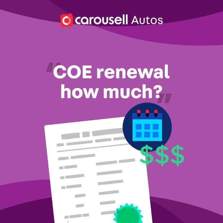 How much is the price of COE for renewal during the Phase 1: Safe Re-opening period?