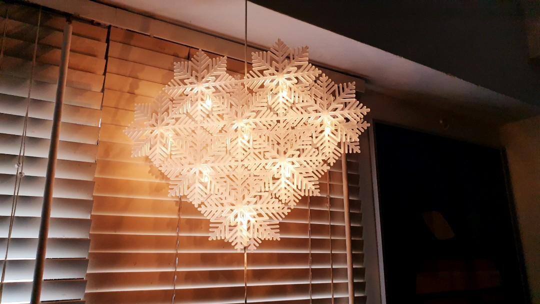Ikea Strala Led Pendant Lamp Snowflakes Decoration Home Furniture Home Decor On Carousell