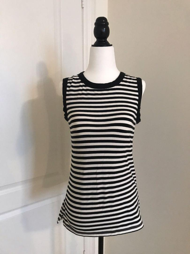 Kate Spade Black & White Tank, with Bow on the Back