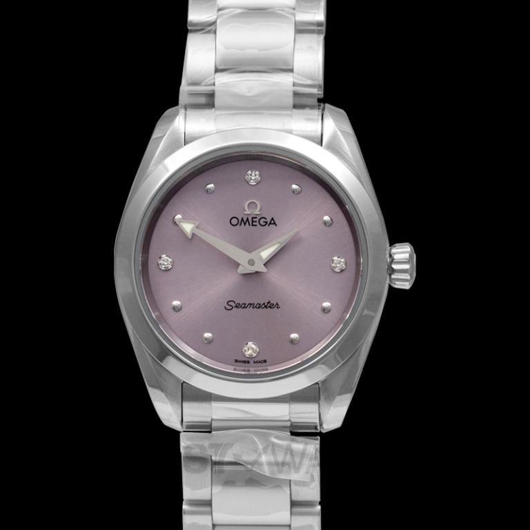 [NEW] Omega Seamaster Aqua Terra 150M Quartz 28mm Quartz Purple Dial Diamonds Ladies Watch 220.10.28.60.60.001