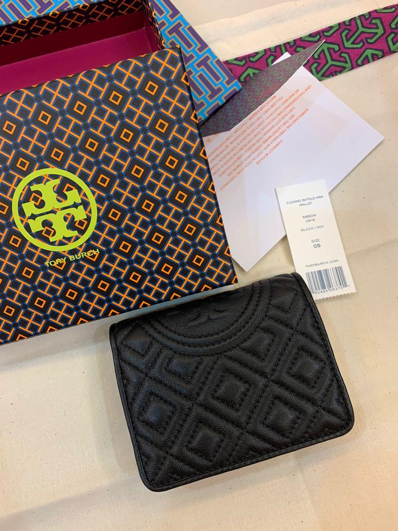 Ready Stock Authentic Tory Burch short purse Fleming slim wallet