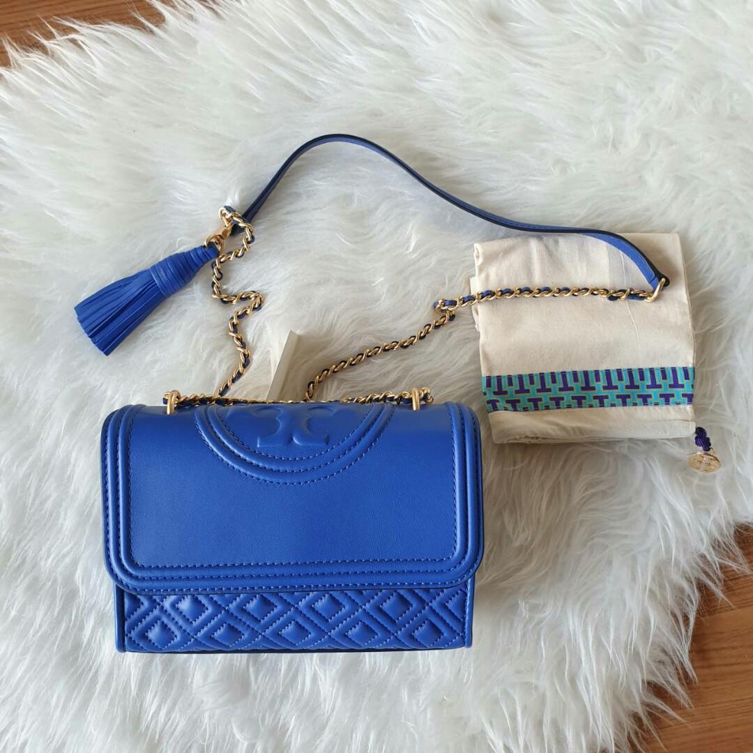Ready TB Fleming Small Convertible Shoulder Bag (Nautical Blue) 20.5 x 5 x 13cm
