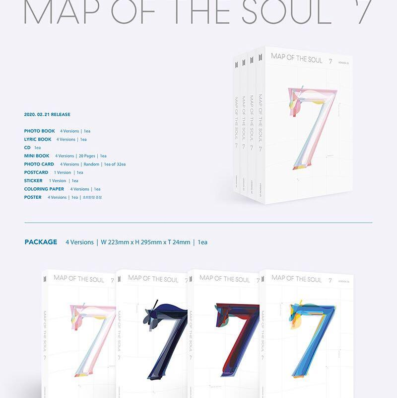 "SALE [READYSTOCK IN KOREA] BTS ALBUM ""MAP OF THE SOUL: 7"""