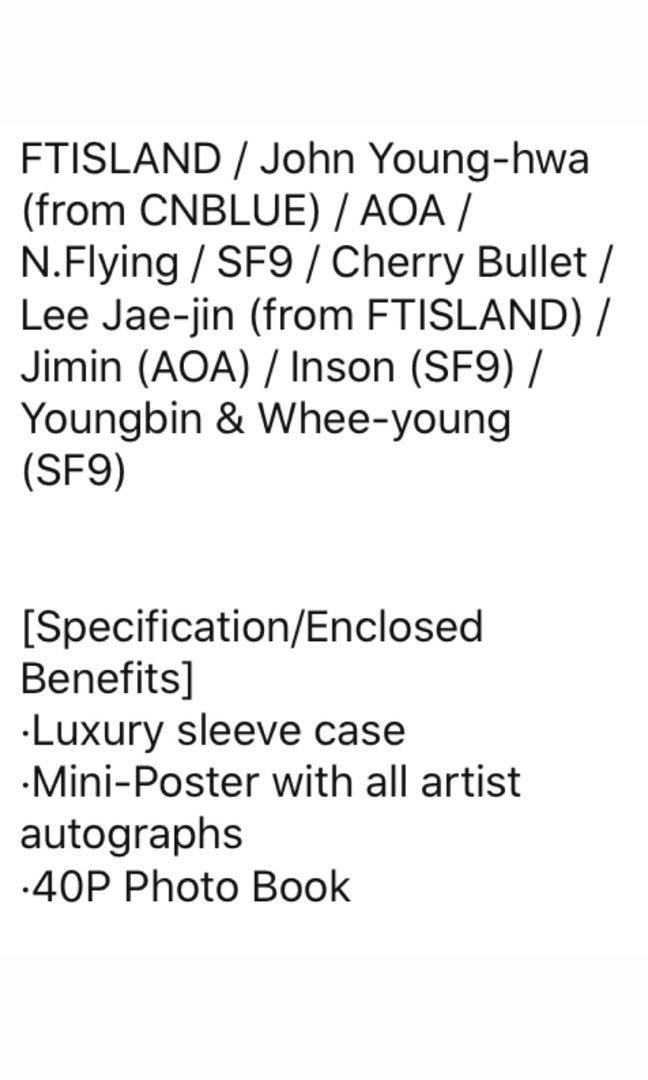 「SF9, FT ISLAND, CNBLUE, CHERRY BULLET, AOA, N.FLYING」 2019 FNC Kingdom - Winter Forest Camp