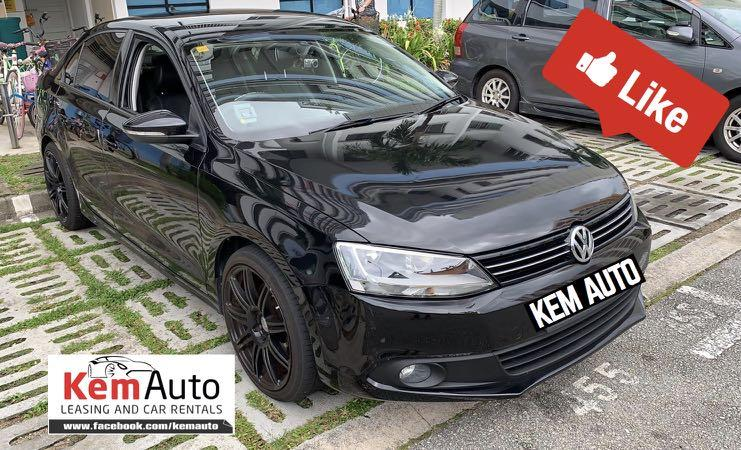 Sporty Black Volkswagen Jetta MK6 Sports 1.4A Twin Charge