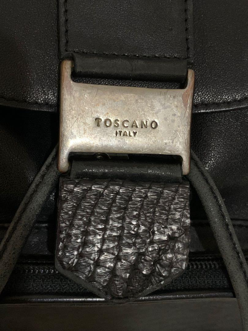 Toscano backpack mini, authentic, full leather, 23 x 24 x 8 cm, imut lucu cantik, serius no php!!bag only