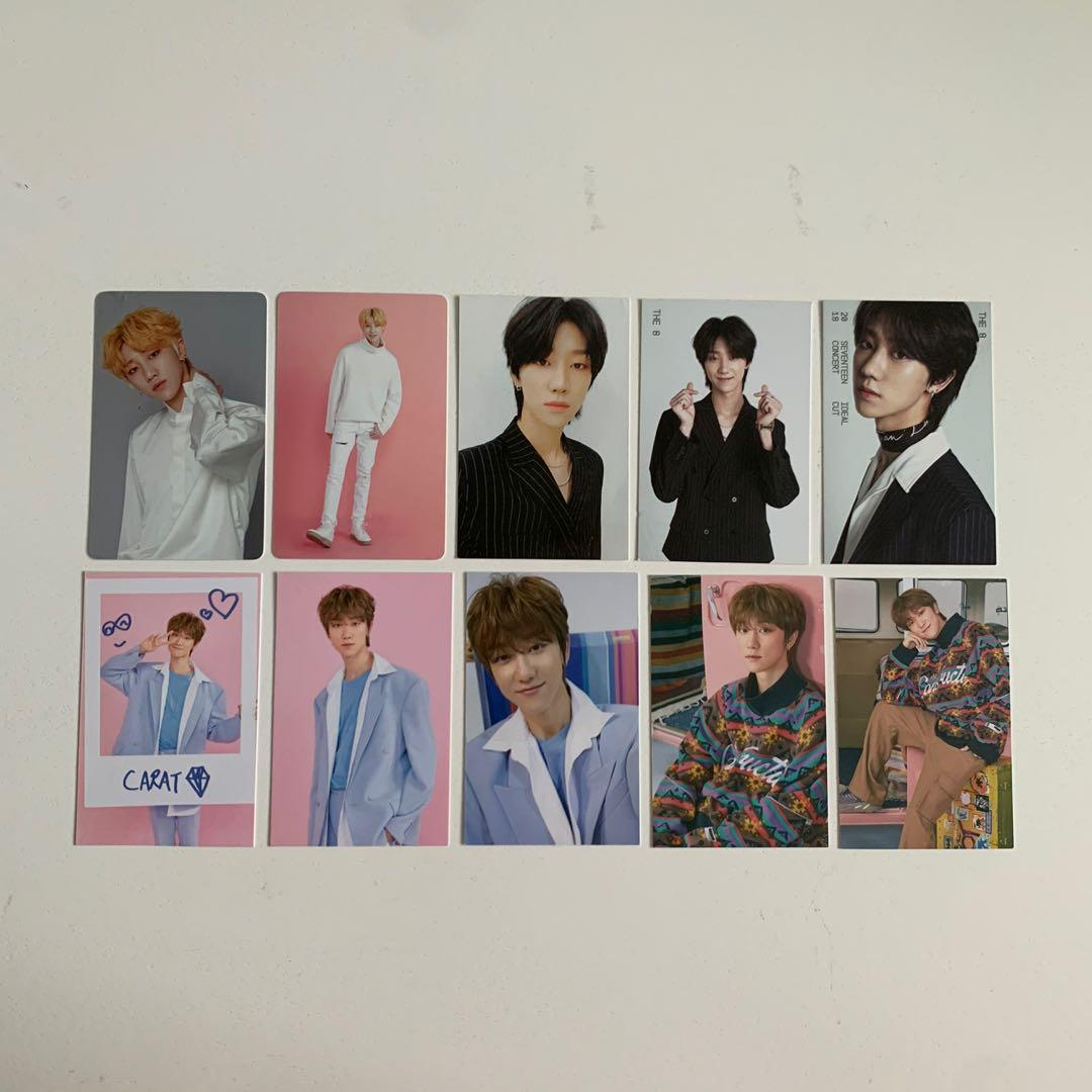 wts seventeen svt the8 minghao concert photocard pc