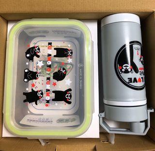 熊本熊 豐富套餐餐盒~保鮮盒 水壺一組