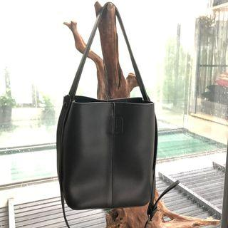 Black Bucket Bag with inner pouch
