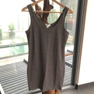 Grey Cotton Singlet Dress