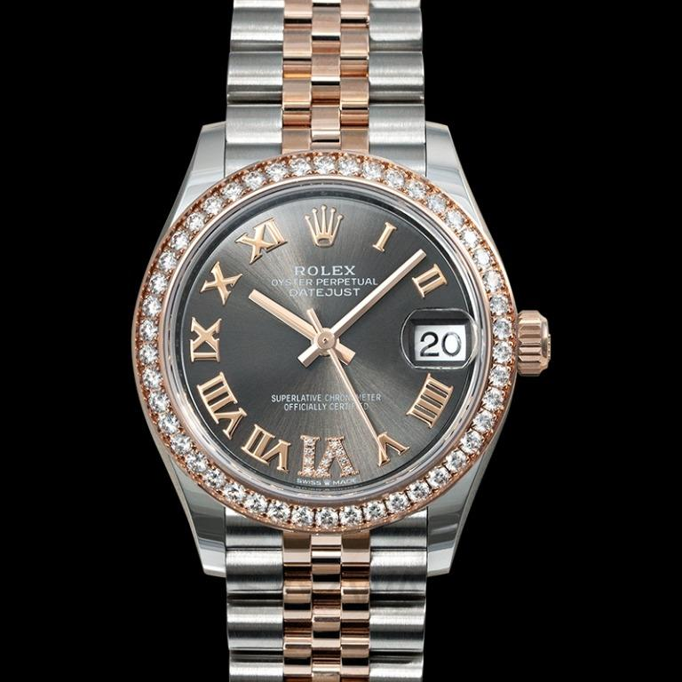 [NEW] Rolex Datejust 31 Automatic Rhodium Dial Diamond Bezel Oystersteel and 18 ct Everose Gold Ladies Watch 278381rbr-0030