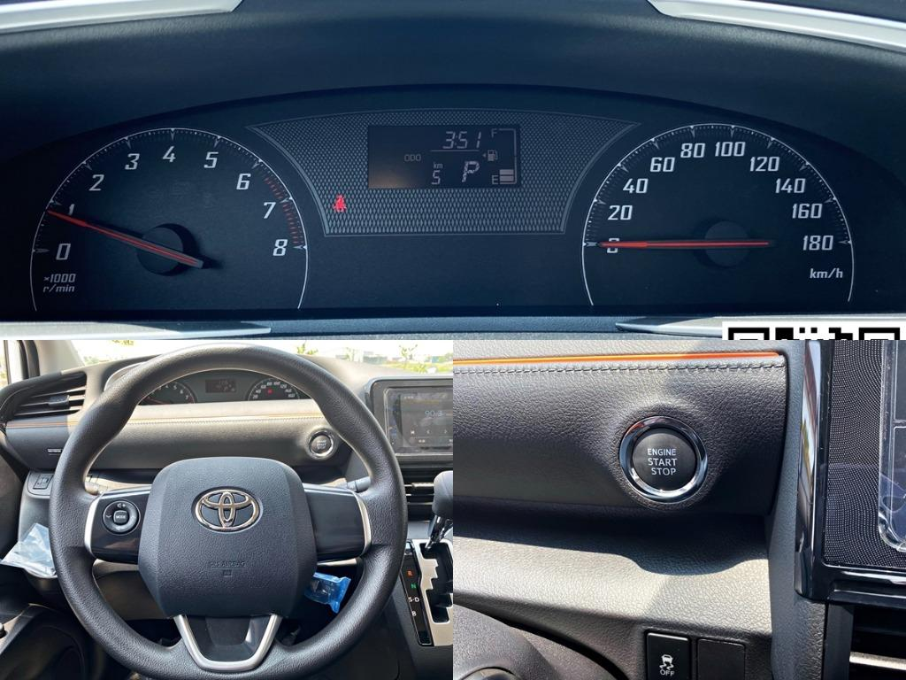 """[全新車領牌車'里程5km'] 2020年 4月領牌 Sienta  """"5人豪華+"""" 1.8 白色"""