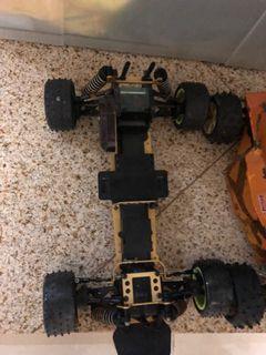 90s Hirobo invader chassis only - tamiya yokomo hpi kyosho