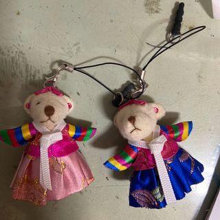 韓國 韓服 小熊吊飾