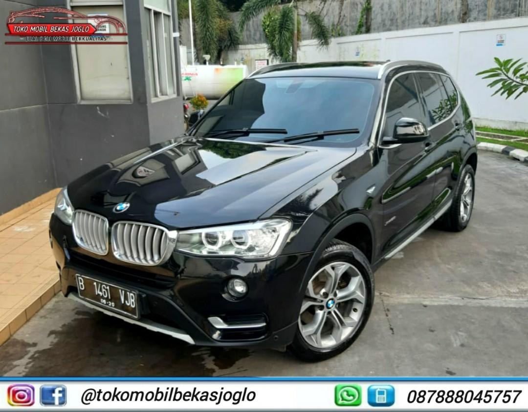BMW X3 2.0 AT XLINE 2015 Hitam,Kredit 439jt & Cash 495jt