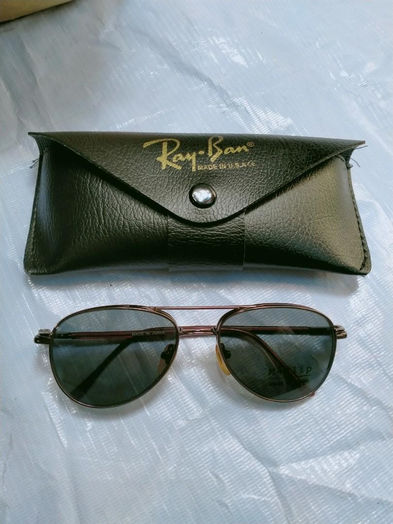 Clip On Vintage Sunglasses (Cocok buat frame kacamata minus) Model: aviator Brand: M-Clip COL4 Original made in Japan