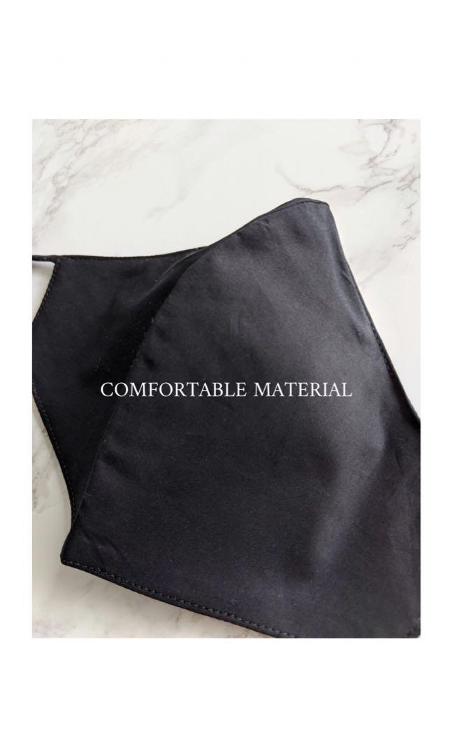 Face Mask with filter pocket, lightweight, Washable, Cotton linen face mask