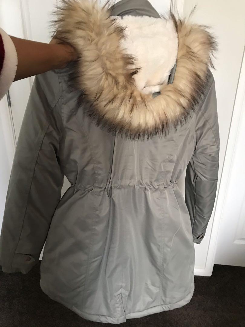 Jeans west puffer rain coat size 10