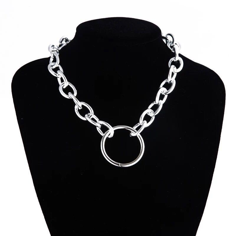 jewelry aesthetic chain necklace gothic chains choker grunge girl emo goth Jewelry chains 90s fashion accessories