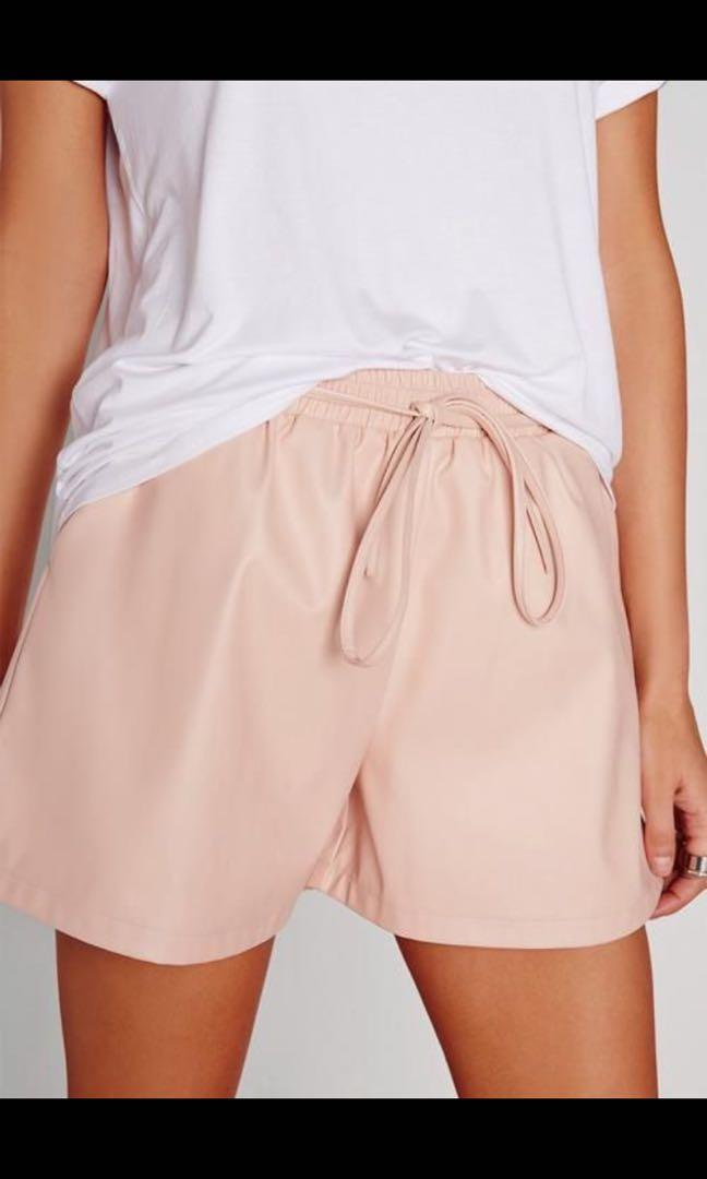 Misguided Faux Leather Shorts