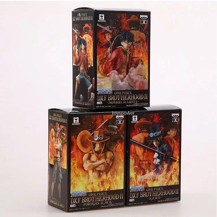ONE PIECE DXF BROTHERHOOD LUFFY/ACE/SABO COLLECTIBLES FIGURE SET OF 3 ( 49714A )