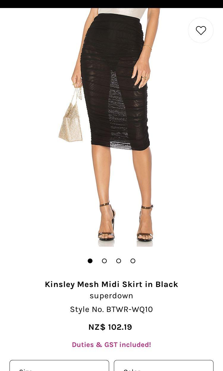 Pass the knee length mesh skirt
