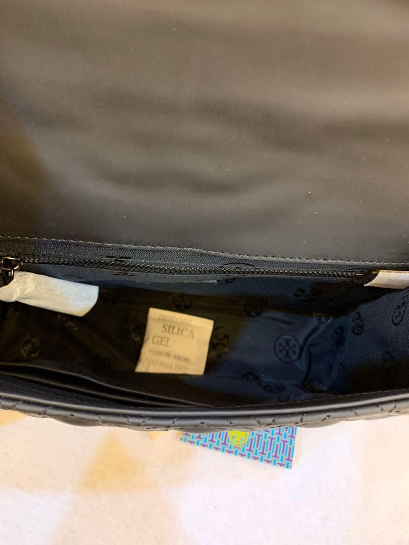 Ready Stock authentic Tory Burch Matt black medium convertibles bag Raya Promotion crossbody sling bag