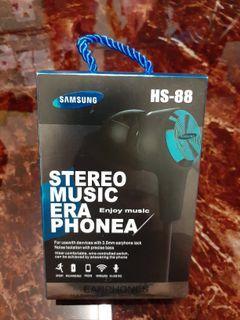Samsung  運動專用有線耳機(三星可用Mic) HS-88 另外附贈😎紋身貼紙(手臂) 一組