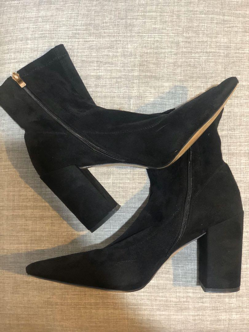 Size NZ 10 PLT Suede Ankle Boots
