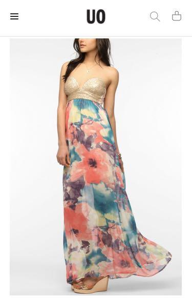 URBAN OUTFITTERS Sequin Bustier Maxi Dress XS (NEW!)