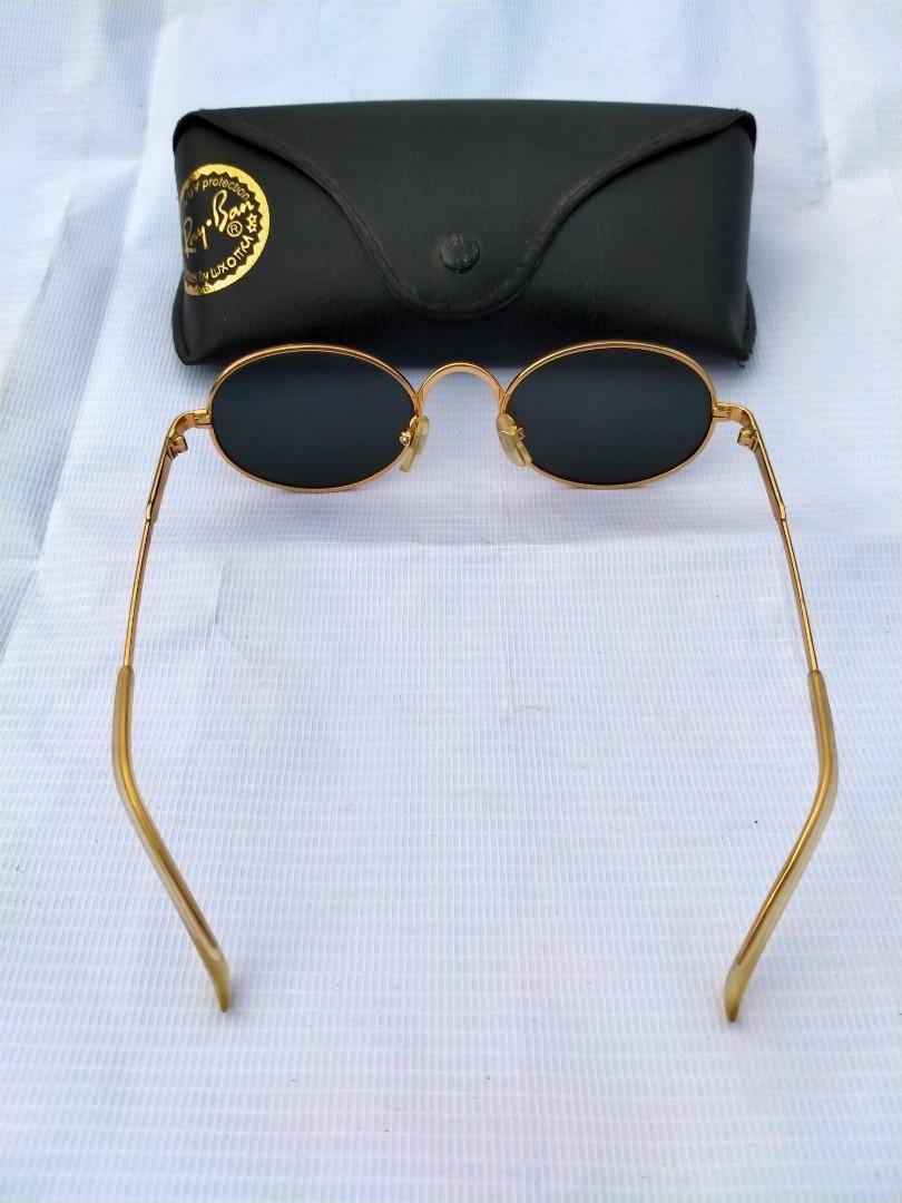 Vintage Sunglasess 80s/John Lennon Vintage Sunglasses Frame gold(besi kuningan) dilapisi