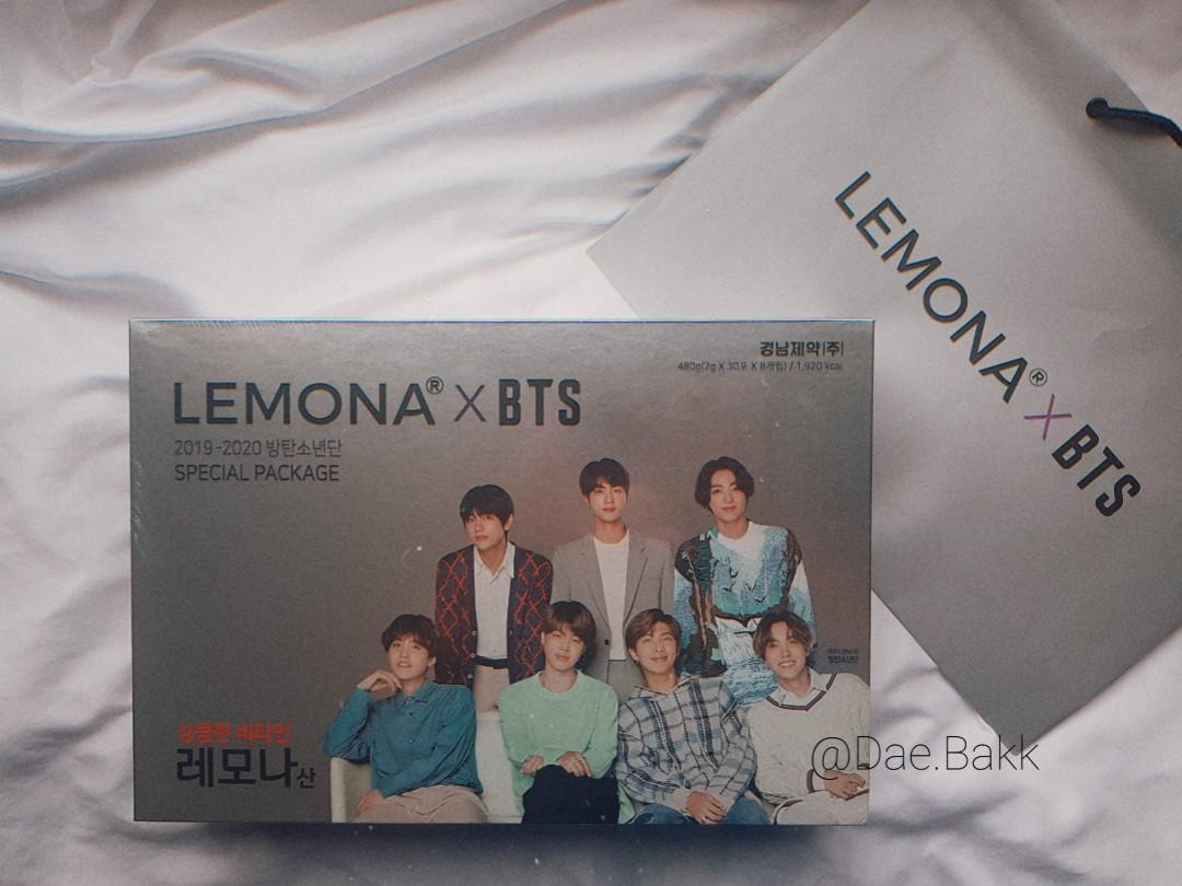 BTS Lemona Special Package (8 Cans 30 Sticks & 100% From Korea)