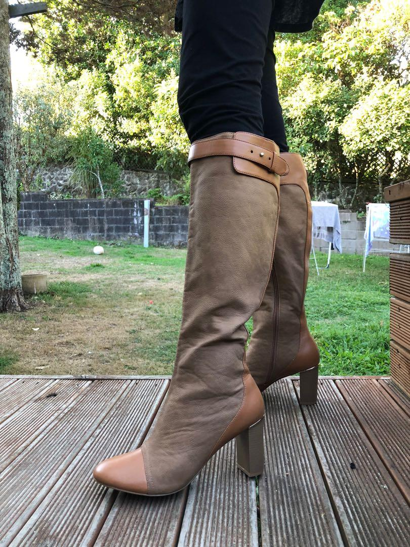 Charles and Keith Real Leather Boots