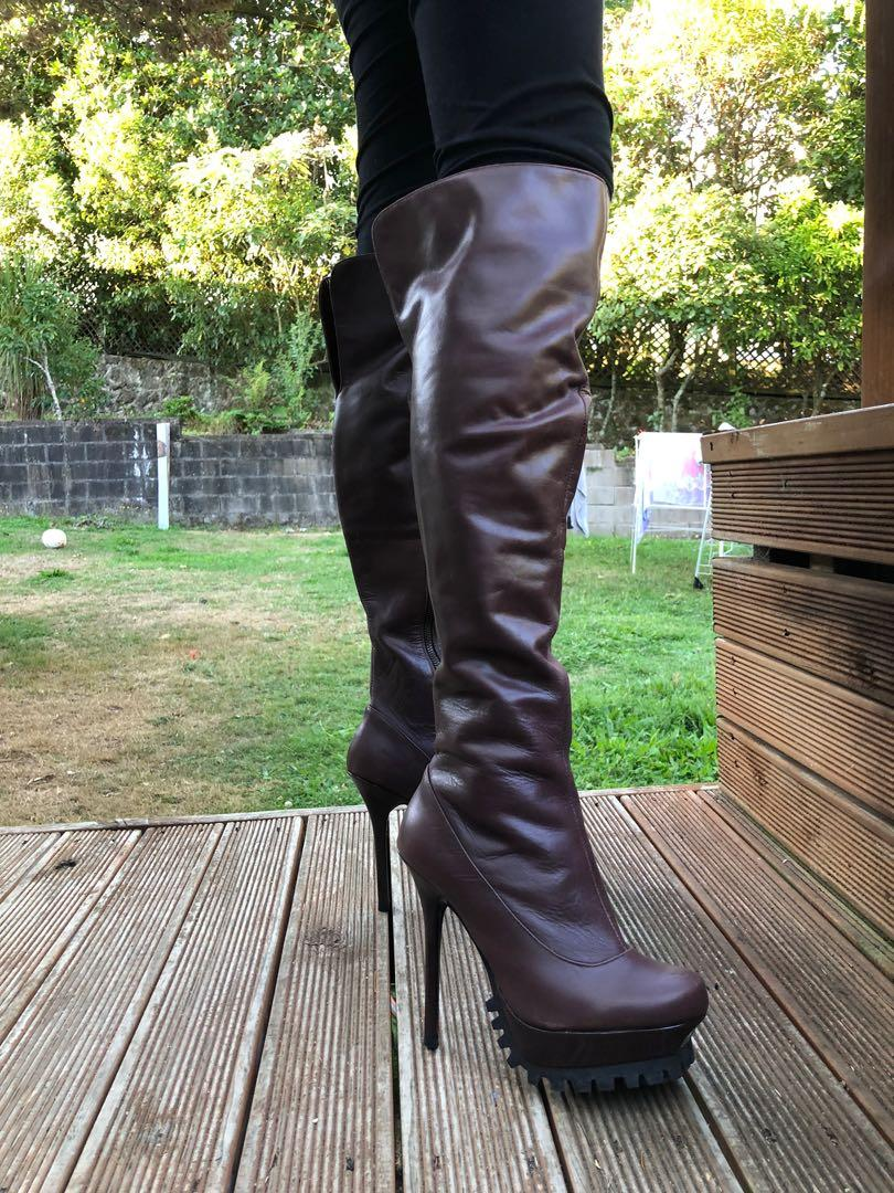 CHARLIES & KEITH Knee High Real Leather Boots