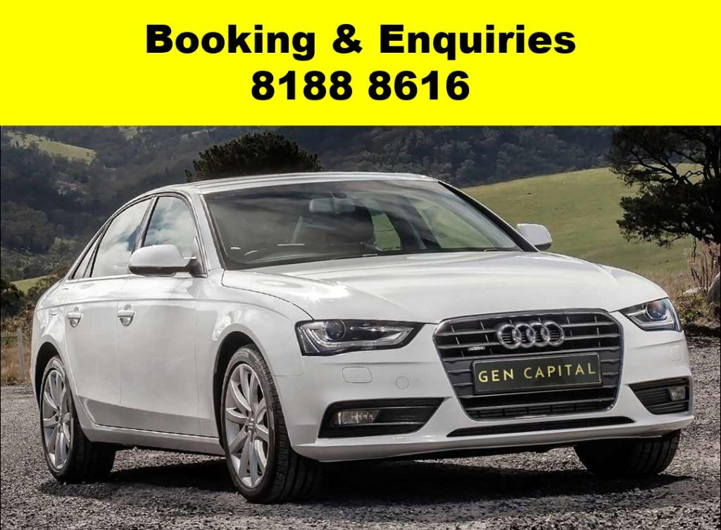 AUDI A3/A4 -ADVANCE BOOKING ONLY! Book now, Pay later. We have lowered our rental rates with additional Free rental and Petrol vouchers for new signups! Whatsapp 8188 8616 now to reserve a car now!