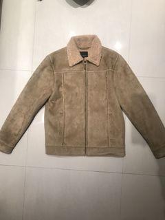 Net 駝色狩獵內刷毛外套 磅數紮實超保暖