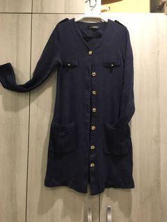 韓國金釦針織罩衫
