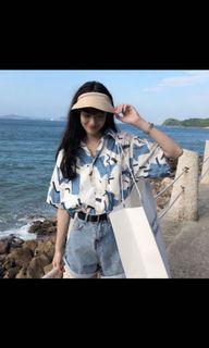 韓風花襯衫