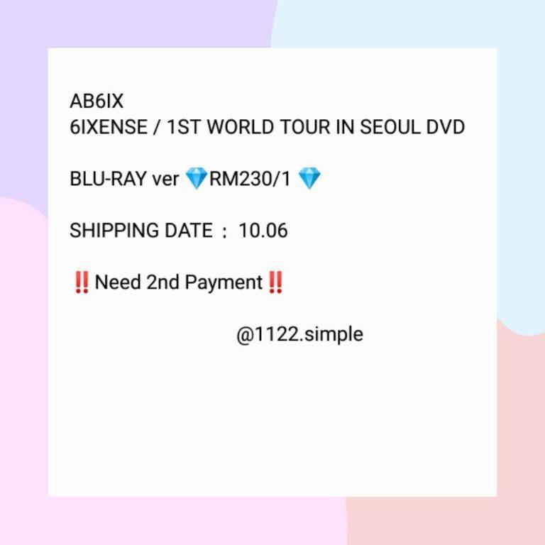 AB6IX [6IXENSE] 1ST World Tour In Seoul DVD (Blu-ray ver.)