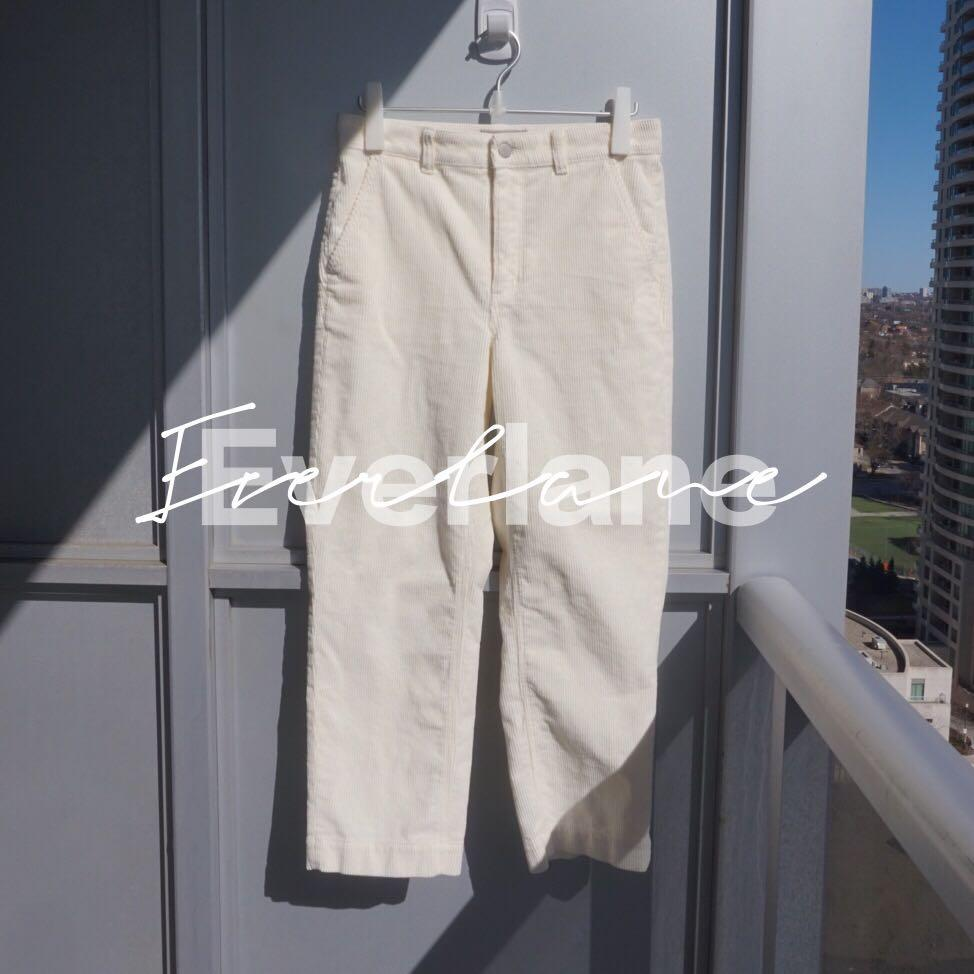 EUC Everlane The Corduroy Straight Leg Crop Size 8